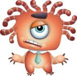 Octopus Monster Cartoon Vector Character AKA Mister Octo-monster - Roll Eyes