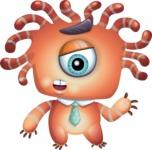 Octopus Monster Cartoon Vector Character AKA Mister Octo-monster - Lost 2