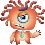 Octopus Monster Cartoon Vector Character AKA Mister Octo-monster - Goddbye