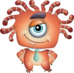 Octopus Monster Cartoon Vector Character AKA Mister Octo-monster - Patient