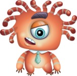 Octopus Monster Cartoon Vector Character AKA Mister Octo-monster - Blank
