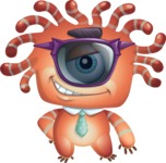 Octopus Monster Cartoon Vector Character AKA Mister Octo-monster - Sunglasses