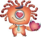 Octopus Monster Cartoon Vector Character AKA Mister Octo-monster - Show Love