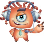 Octopus Monster Cartoon Vector Character AKA Mister Octo-monster - Support