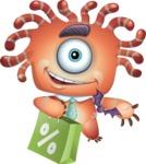 Octopus Monster Cartoon Vector Character AKA Mister Octo-monster - Sale