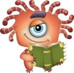 Octopus Monster Cartoon Vector Character AKA Mister Octo-monster - Book