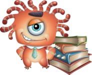 Octopus Monster Cartoon Vector Character AKA Mister Octo-monster - Books