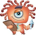 Octopus Monster Cartoon Vector Character AKA Mister Octo-monster - Note 1