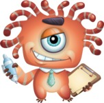 Octopus Monster Cartoon Vector Character AKA Mister Octo-monster - Note 2