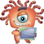 Octopus Monster Cartoon Vector Character AKA Mister Octo-monster - iPad 1