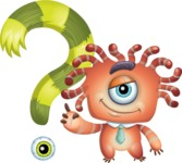 Octopus Monster Cartoon Vector Character AKA Mister Octo-monster - Question Mark