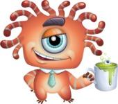 Octopus Monster Cartoon Vector Character AKA Mister Octo-monster - Coffee Mug