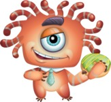 Octopus Monster Cartoon Vector Character AKA Mister Octo-monster - Doughnut
