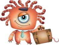 Octopus Monster Cartoon Vector Character AKA Mister Octo-monster - Travel