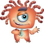 Octopus Monster Cartoon Vector Character AKA Mister Octo-monster - Showcase 2