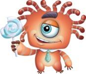 Octopus Monster Cartoon Vector Character AKA Mister Octo-monster - Lolipop