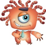 Octopus Monster Cartoon Vector Character AKA Mister Octo-monster - Show