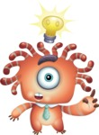 Octopus Monster Cartoon Vector Character AKA Mister Octo-monster - Idea