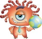 Octopus Monster Cartoon Vector Character AKA Mister Octo-monster - Ball