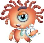 Octopus Monster Cartoon Vector Character AKA Mister Octo-monster - Sleepy