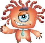 Octopus Monster Cartoon Vector Character AKA Mister Octo-monster - Show 2