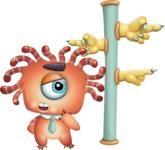 Octopus Monster Cartoon Vector Character AKA Mister Octo-monster - Crossroad