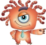 Octopus Monster Cartoon Vector Character AKA Mister Octo-monster - Point