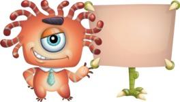 Octopus Monster Cartoon Vector Character AKA Mister Octo-monster - Presentation 1
