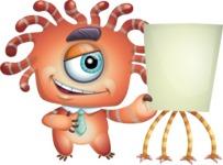 Octopus Monster Cartoon Vector Character AKA Mister Octo-monster - Presentation 2