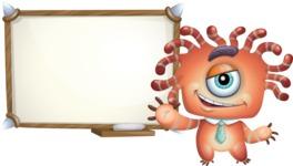 Octopus Monster Cartoon Vector Character AKA Mister Octo-monster - Presentation 3
