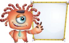 Octopus Monster Cartoon Vector Character AKA Mister Octo-monster - Presentation 4