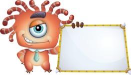 Octopus Monster Cartoon Vector Character AKA Mister Octo-monster - Presentation 5