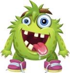 Funny Monster Cartoon Vector Character AKA Hal the Messy Pal - Normal