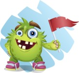 Funny Monster Cartoon Vector Character AKA Hal the Messy Pal - Shape 2