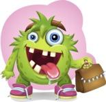 Funny Monster Cartoon Vector Character AKA Hal the Messy Pal - Shape 3