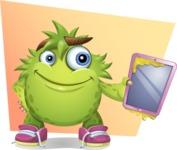 Funny Monster Cartoon Vector Character AKA Hal the Messy Pal - Shape 5