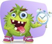 Funny Monster Cartoon Vector Character AKA Hal the Messy Pal - Shape 8