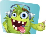 Funny Monster Cartoon Vector Character AKA Hal the Messy Pal - Shape 9