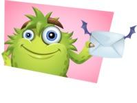 Funny Monster Cartoon Vector Character AKA Hal the Messy Pal - Shape 10
