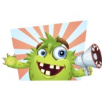 Funny Monster Cartoon Vector Character AKA Hal the Messy Pal - Shape 11