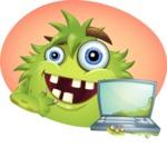Funny Monster Cartoon Vector Character AKA Hal the Messy Pal - Shape 12