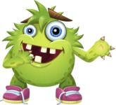 Funny Monster Cartoon Vector Character AKA Hal the Messy Pal - Sorry