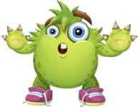 Funny Monster Cartoon Vector Character AKA Hal the Messy Pal - Stop 2