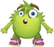Funny Monster Cartoon Vector Character AKA Hal the Messy Pal - Shocked