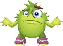 Funny Monster Cartoon Vector Character AKA Hal the Messy Pal - Lost