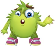 Funny Monster Cartoon Vector Character AKA Hal the Messy Pal - Lost 2