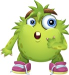 Funny Monster Cartoon Vector Character AKA Hal the Messy Pal - Oops