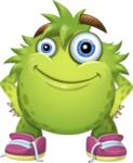 Funny Monster Cartoon Vector Character AKA Hal the Messy Pal - Patient
