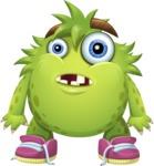 Funny Monster Cartoon Vector Character AKA Hal the Messy Pal - Blank