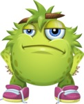 Funny Monster Cartoon Vector Character AKA Hal the Messy Pal - Bored